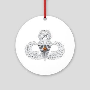 Master Airborne Combat Jump Ornament (Round)