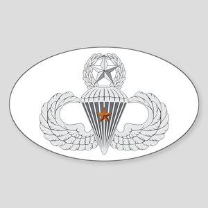Master Airborne Combat Jump Sticker (Oval)