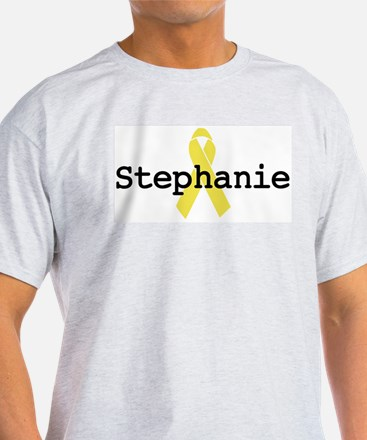 Yellow Ribbon: Stephanie Ash Grey T-Shirt