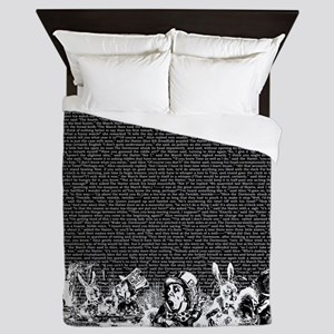 Vintage Alice Border Black Queen Duvet