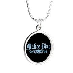 Malice Blue Silver Round Necklace