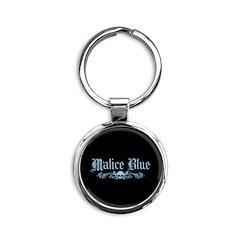 Malice Blue Round Keychain