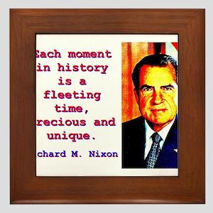 Each Moment In History - Richard Nixon Framed Tile