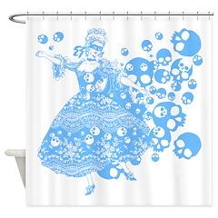 Blue Skull Dancer Shower Curtain