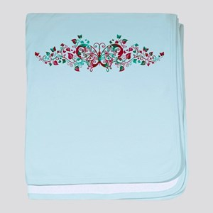 Butterfly Floral Art baby blanket