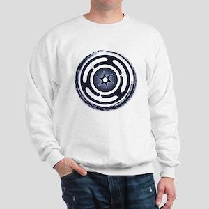 Blue Hecate's Wheel Sweatshirt
