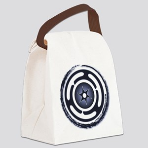 Blue Hecate's Wheel Canvas Lunch Bag