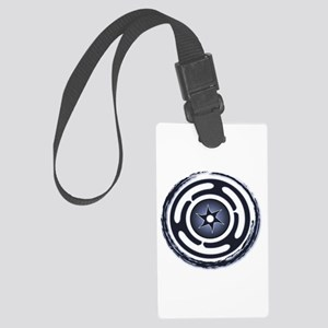Blue Hecate's Wheel Large Luggage Tag