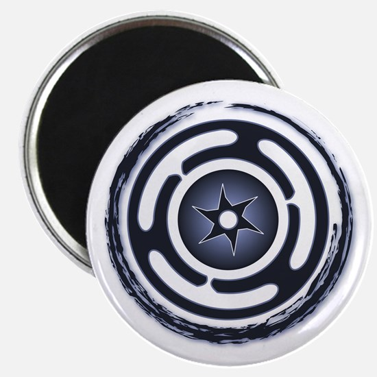 Blue Hecate's Wheel Magnet