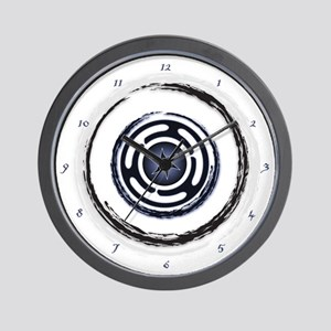 Blue Hecate's Wheel Wall Clock