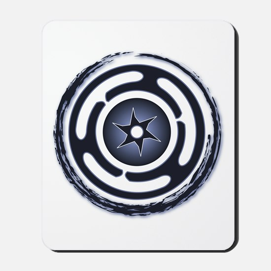 Blue Hecate's Wheel Mousepad