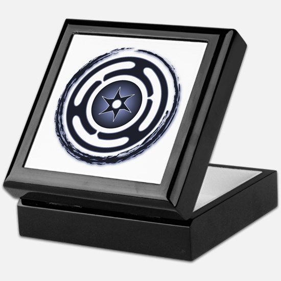 Blue Hecate's Wheel Keepsake Box