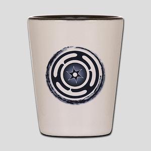 Blue Hecate's Wheel Shot Glass