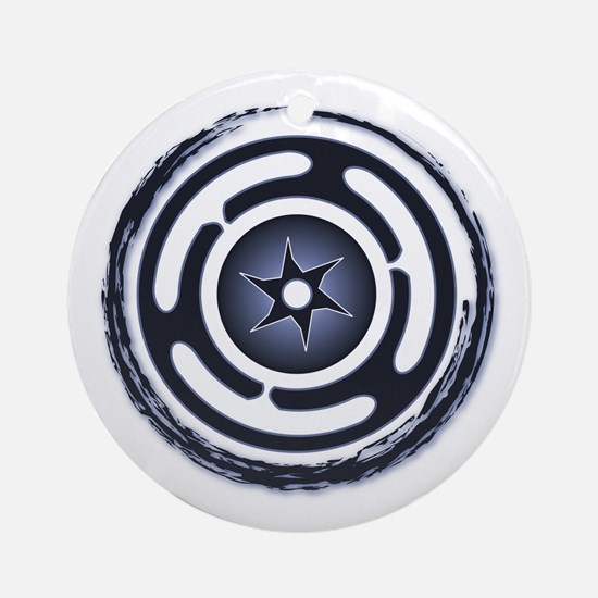Blue Hecate's Wheel Ornament (Round)
