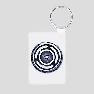 Blue Hecate's Wheel Aluminum Photo Keychain