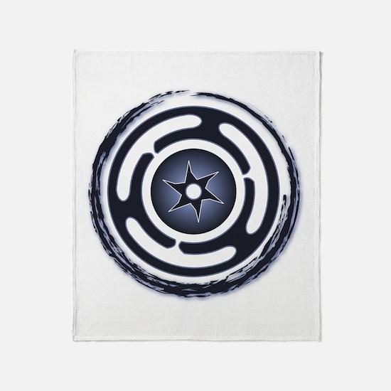 Blue Hecate's Wheel Throw Blanket