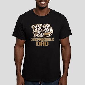Shepadoodle Dog Dad Men's Fitted T-Shirt (dark)