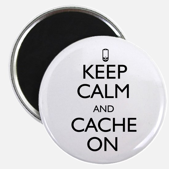 """Keep Calm and Cache On 2.25"""" Magnet (100 pack)"""