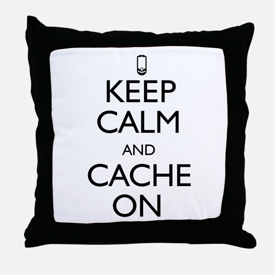 Keep Calm and Cache On Throw Pillow