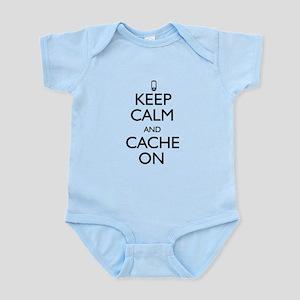 Keep Calm and Cache On Infant Bodysuit
