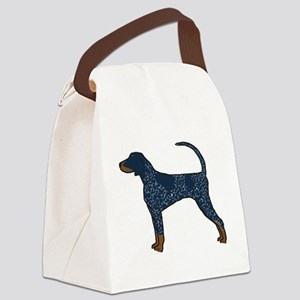 Blue Tick Coonhound Canvas Lunch Bag