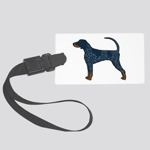 Blue Tick Coonhound Large Luggage Tag