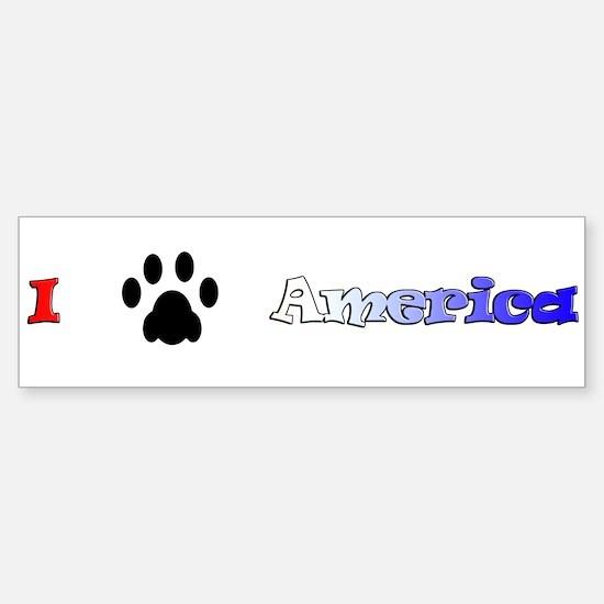 I *paw* America Bumper Bumper Bumper Sticker