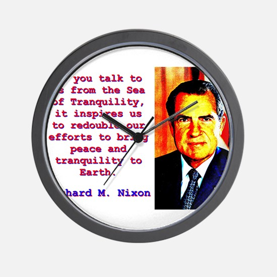 As You Talk To Us - Richard Nixon Wall Clock