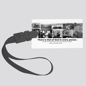 That of God Large Luggage Tag