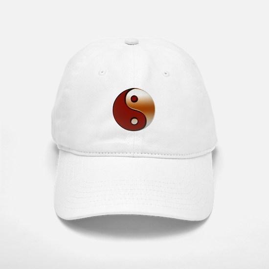 Bronzed Yin-Yang Symbol Baseball Baseball Cap