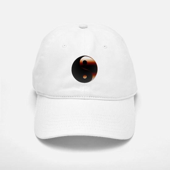 Metallic Yin-Yang Symbol Baseball Baseball Cap