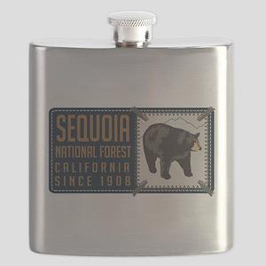 Sequoia Black Bear Badge Flask