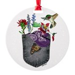 Pocket Wildflowers Round Ornament