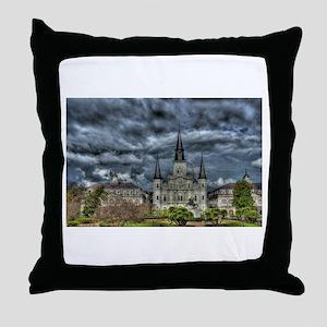 Jackson Square, New Orleans Throw Pillow