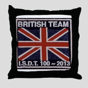 British Team ISDT badge replica 2013 Throw Pillow