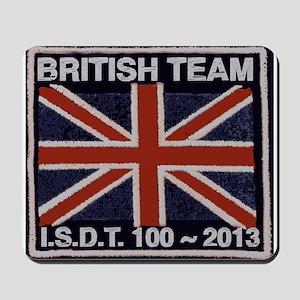 British Team ISDT badge replica 2013 Mousepad