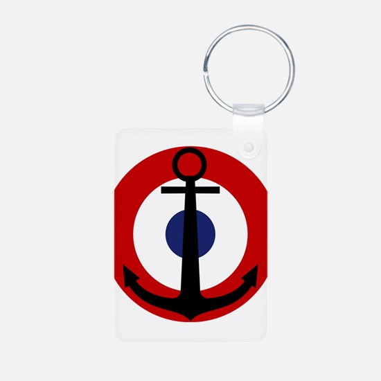 French NAA roundel Keychains