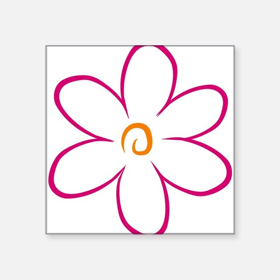"flower Square Sticker 3"" x 3"""
