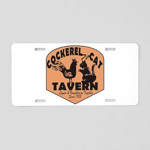Cockerel N Cat Tavern Aluminum License Plate
