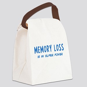 Super Power: Memory Loss Canvas Lunch Bag