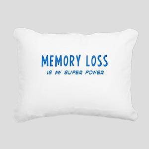 Super Power: Memory Loss Rectangular Canvas Pillow
