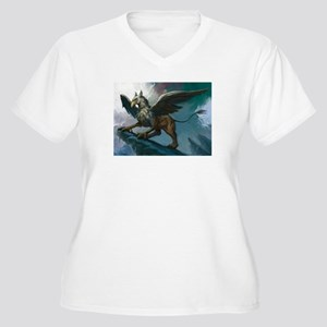 griffin wear Women's Plus Size V-Neck T-Shirt