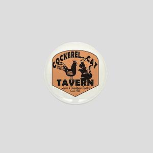 Cockerel N Cat Tavern Mini Button