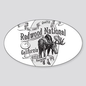 Redwood Vintage Moose Sticker (Oval)