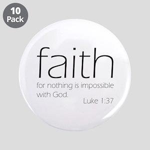 "faith 3.5"" Button (10 pack)"