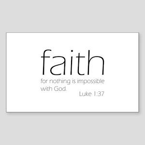 faith Sticker (Rectangle)