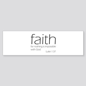 faith Sticker (Bumper)