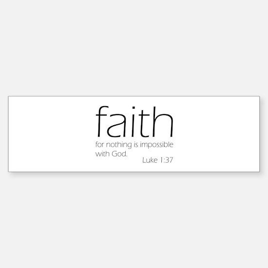 faith Sticker (Bumper)