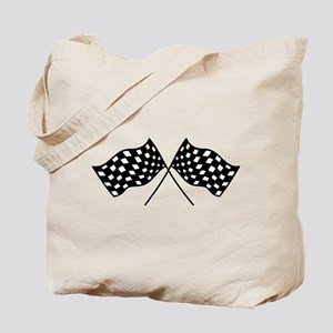 Checkered Flags Tote Bag