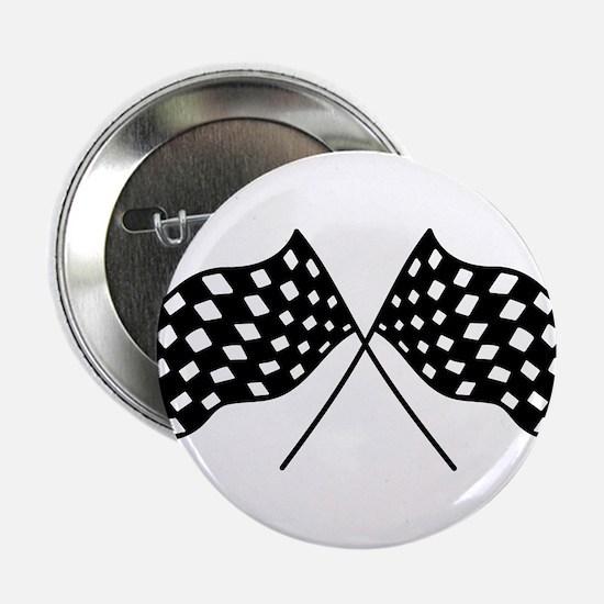 "Checkered Flags 2.25"" Button"